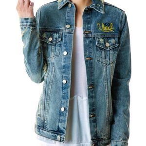 NWOT UNIF fuck denim jacket (xs-s)